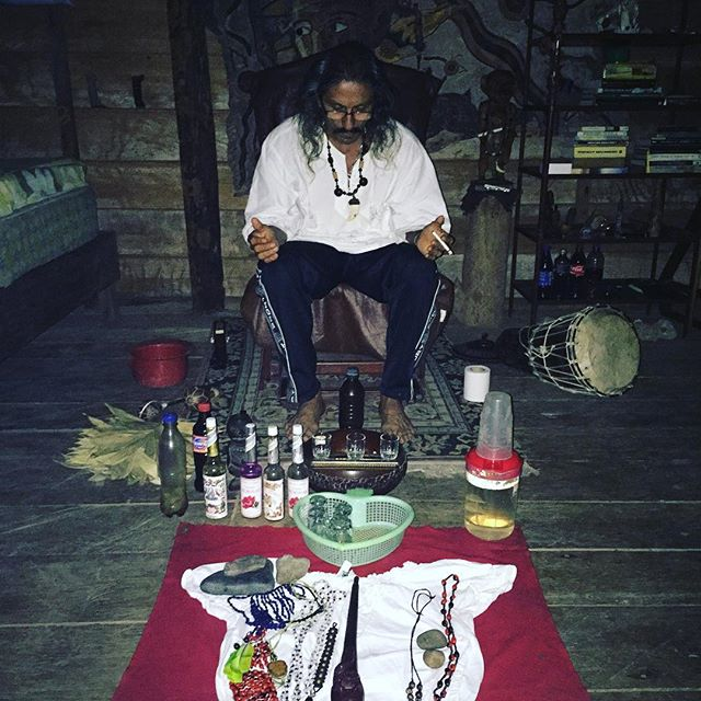 Prepping for ayahuasca ceremony. #ayahuasca #shamanism #shamanicyoga #yogandshamanism #healingretreats #adventureyoga
