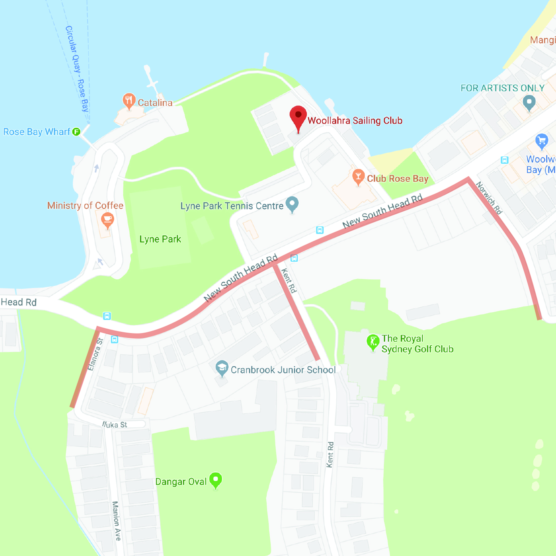 Car parking near the sailing club is available around New South Head Rd. Please allow extra time to find a parking spot as the area can be busy.