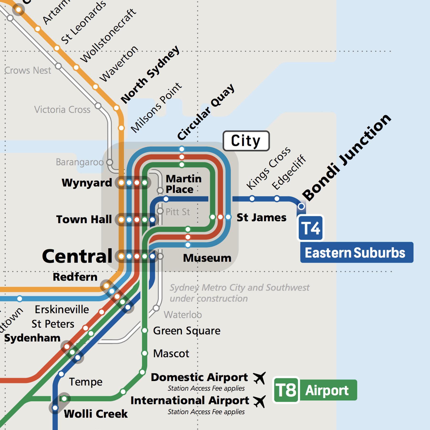 Travel around Sydney by train