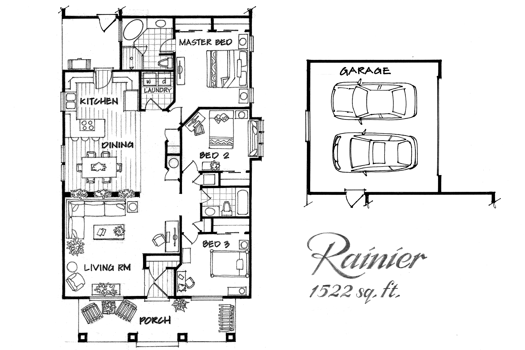 Rainier 3 bed / 2bath
