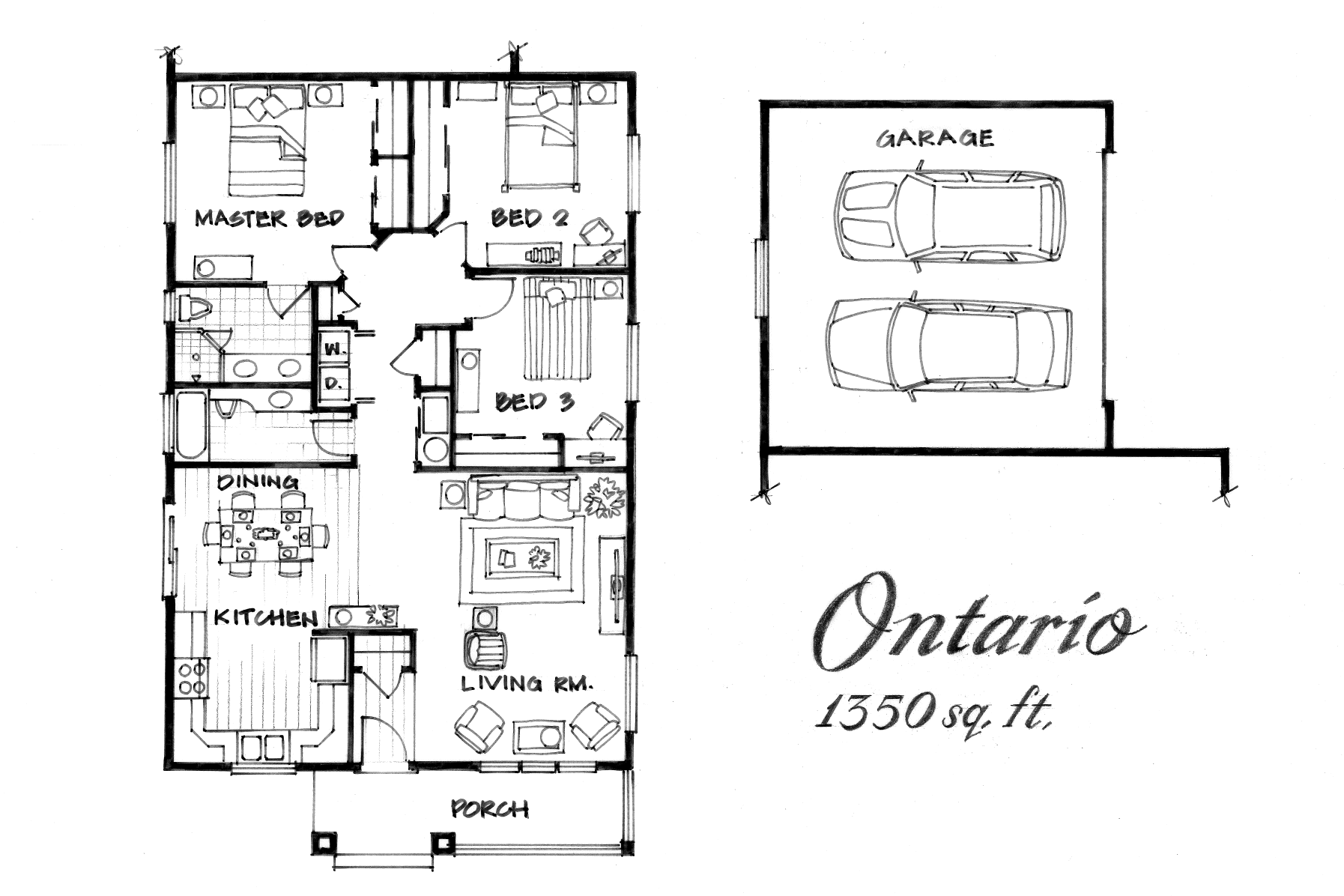 Ontario 3 Bed / 2 Bath