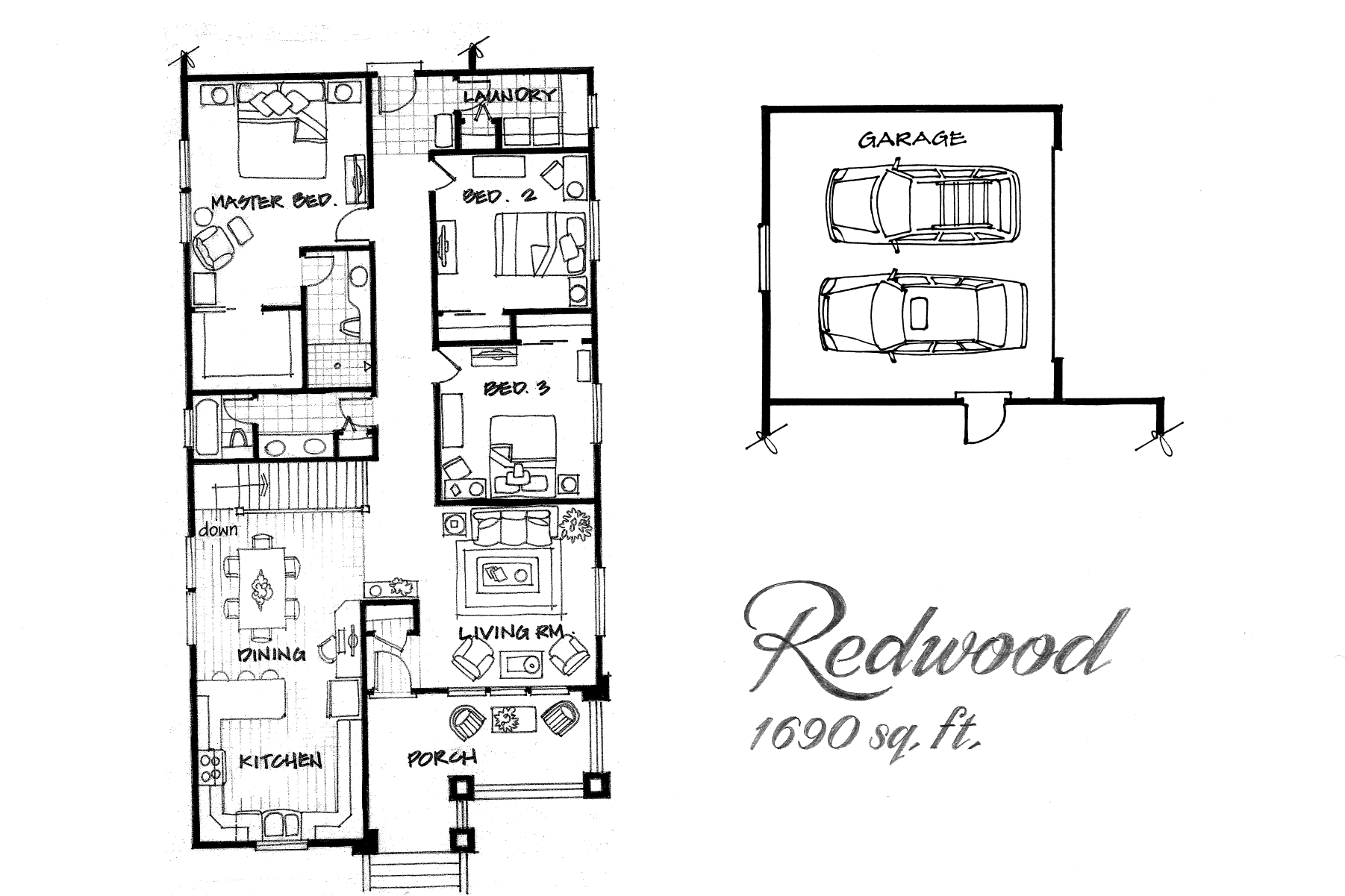 Redwood 3 Bed / 2 Bath