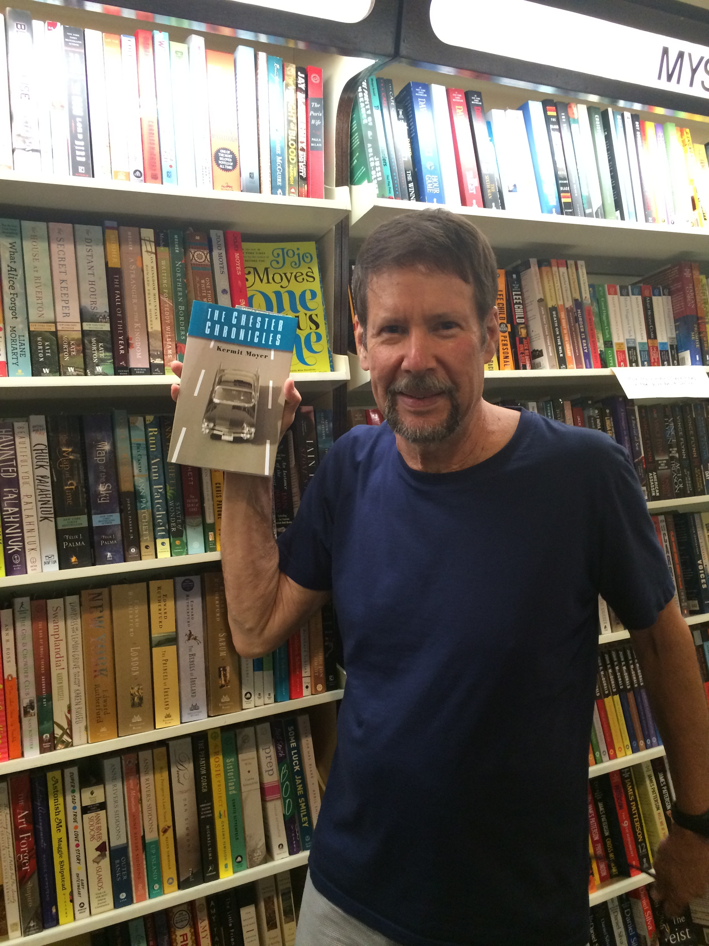 Finding my book at The Yellow Umbrella, a bookstore in Chatham, MA, 2013
