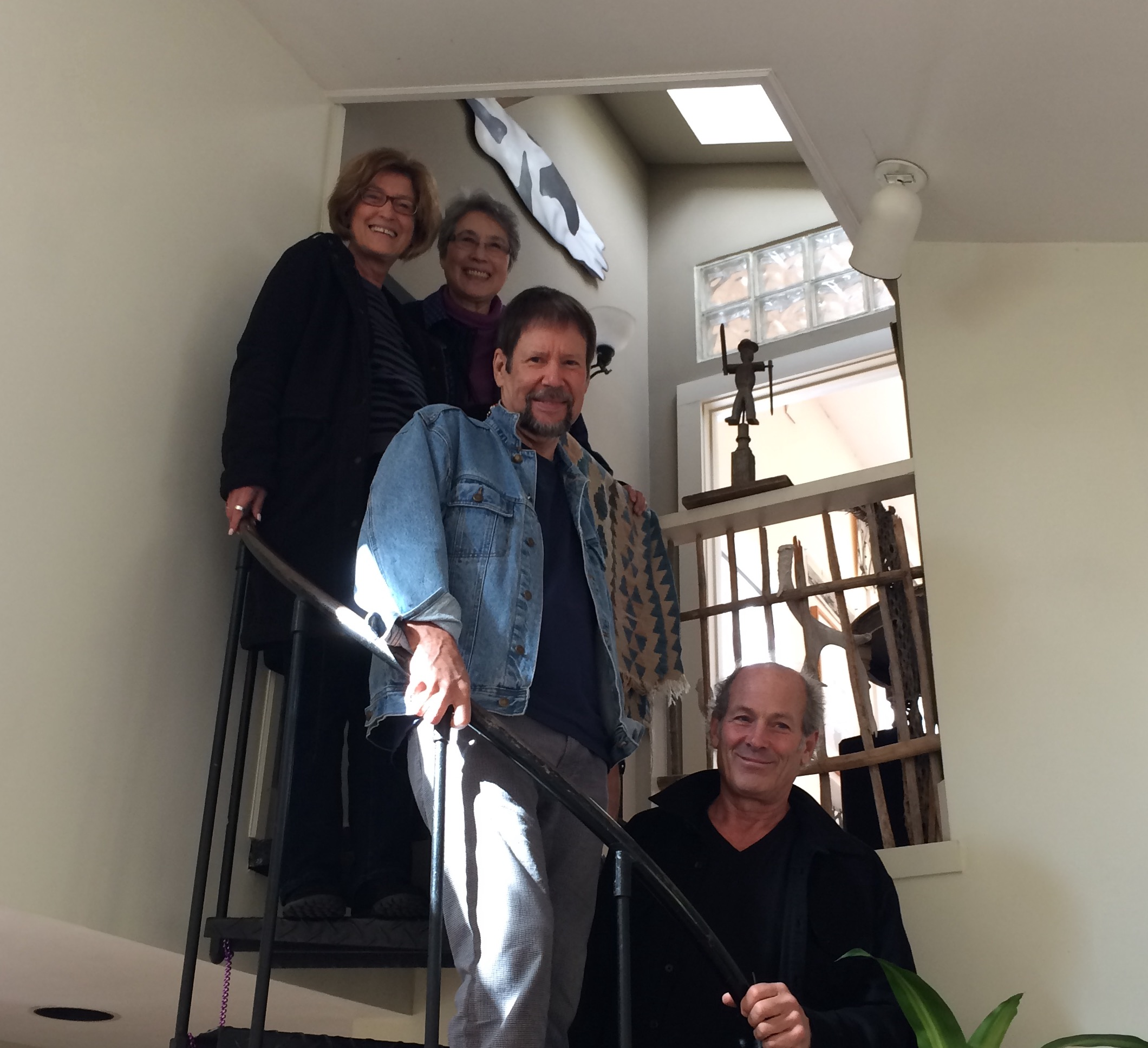 """In Lenox, MA with Amy, our sister Soyoko Higaki, and Jim Youngerman, before the stage adaptation of my short story """"Getting High in Hyde Park,"""" 2015"""