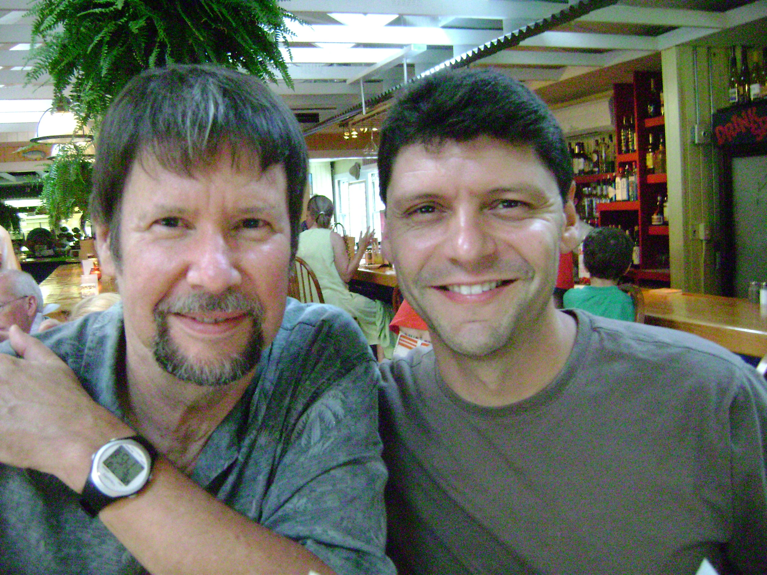 """With David Keplinger, """"Davey,"""" 2009"""