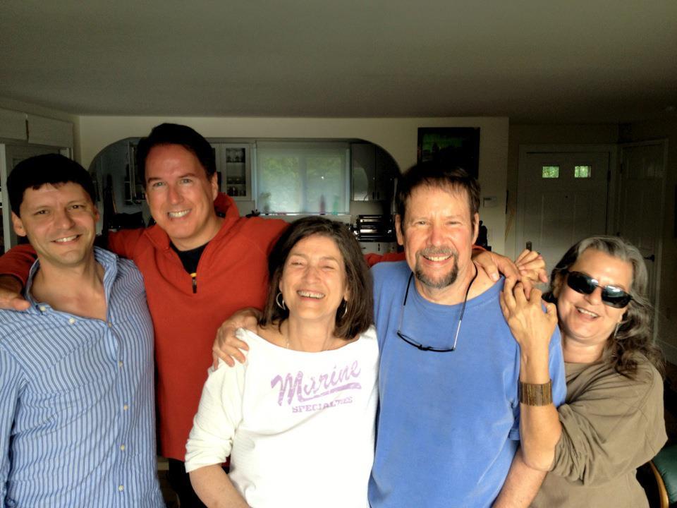 With Davey, Dave Singleton, and Bobbi, fall 2012