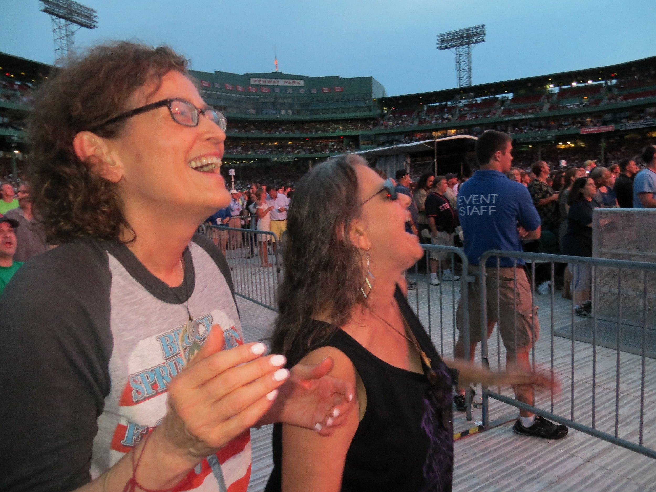 I took this picture of Amy and Bobbi at the Bruce Springsteen show in Fenway Park, 2013