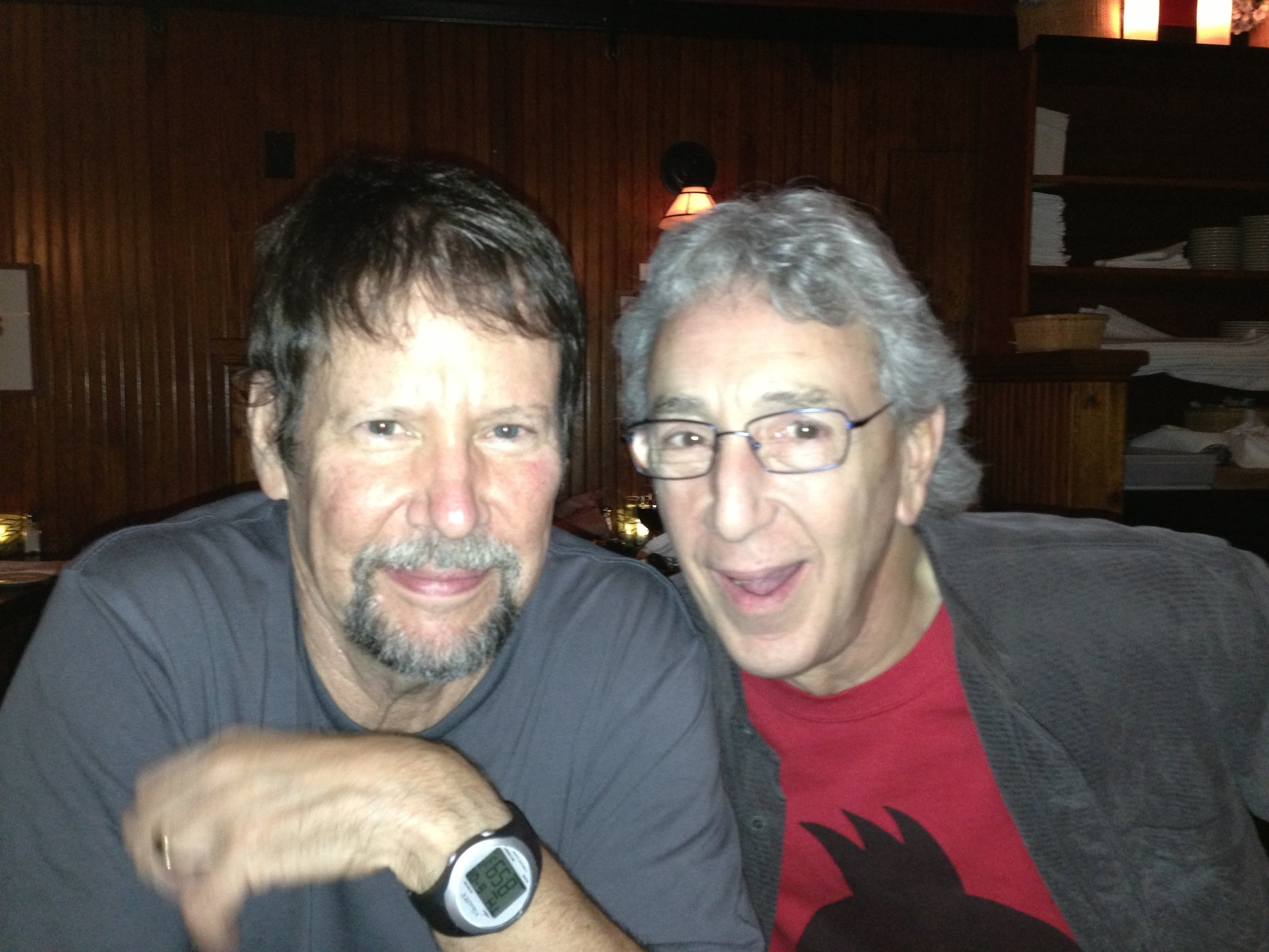 With longtime friend, David Sless, 2016