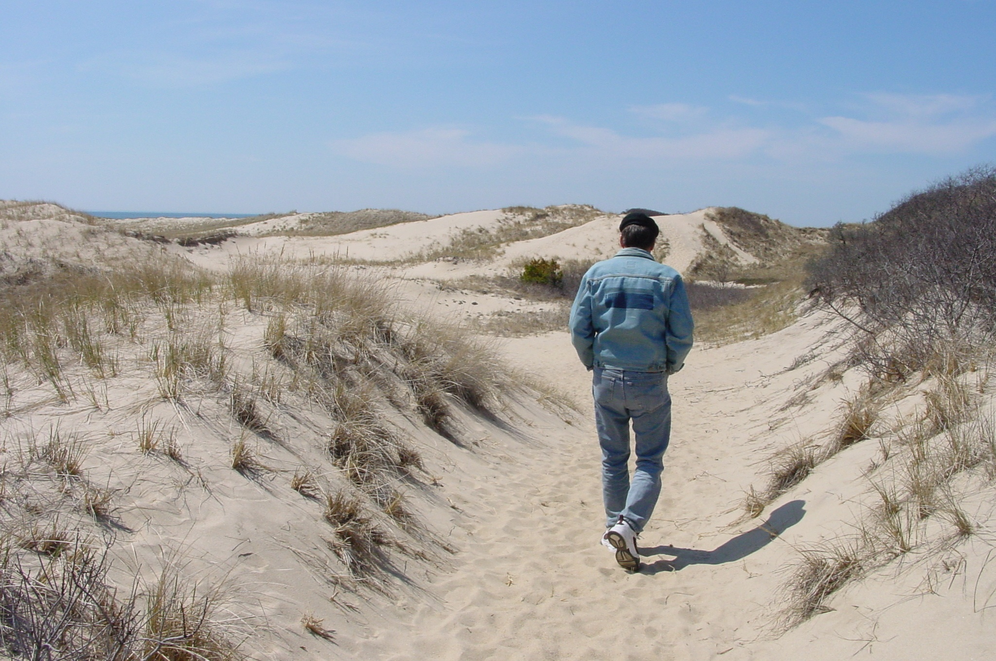 Walking the dunes in Provincetown, around 2009