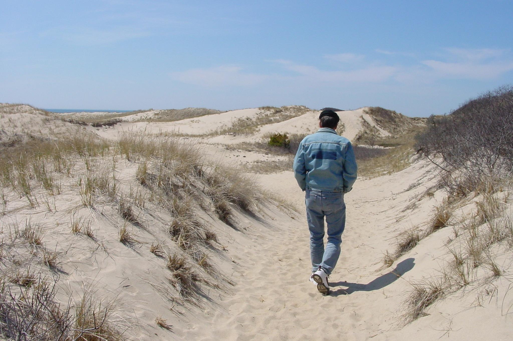 Walking the dunes in Provincetown, around 2009
