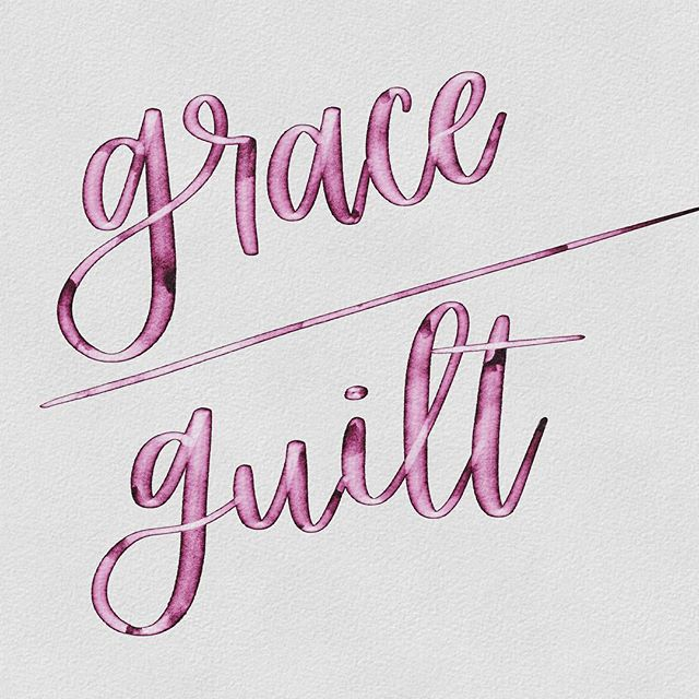 Whoa. It's been a hot minute since I've posted! And this quote is perfect for it because I've been working on balancing all my things. And I have a lot of things 😂 But Lara Casey from @cultivatewhatmatters has this quote in her planner that reminds me to stop and give myself a little grace instead of guilt. I hope everyone can do that for themselves, too. // 🖊 @thebpdletterer watercolor fantasy brush