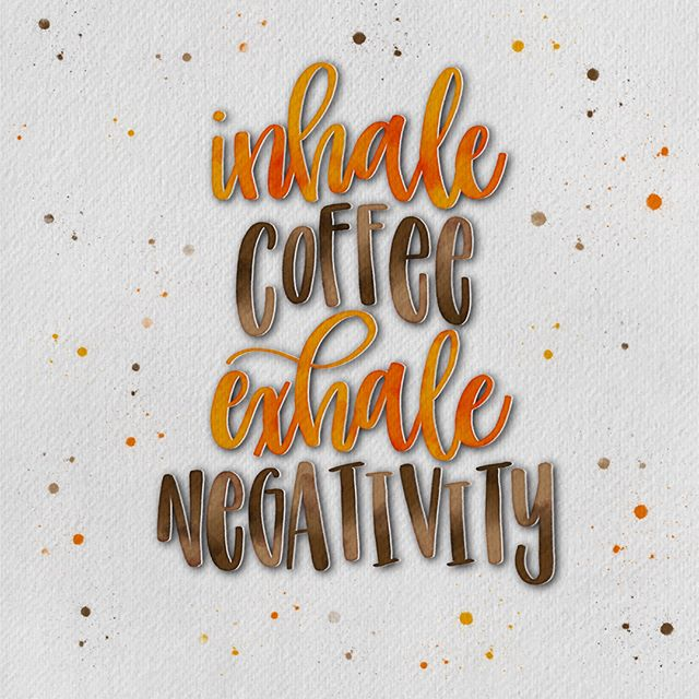 Pretty much my mantra these days 😂 #allthecoffee  Made with @tinycactusdesigns watercolor brush set