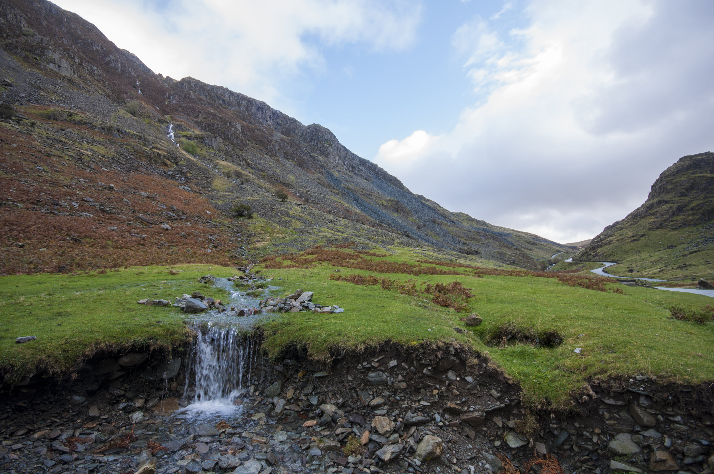 A small mountain stream in the Pennines UK.