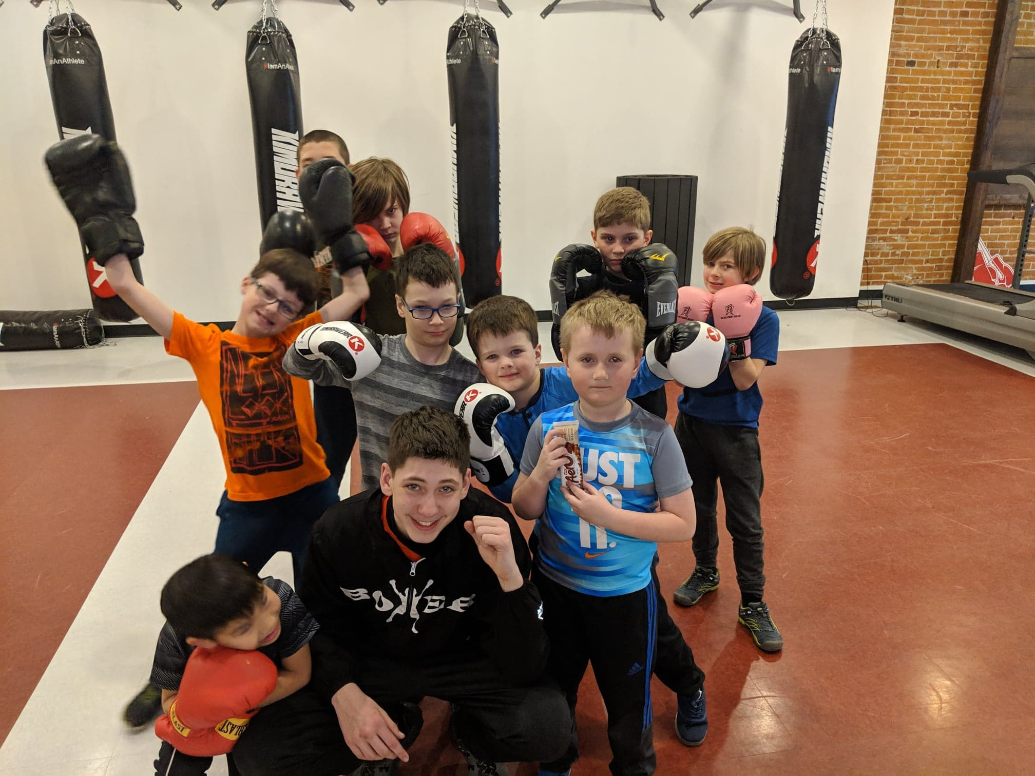 Coach Andrew and some of his FunBOX kids