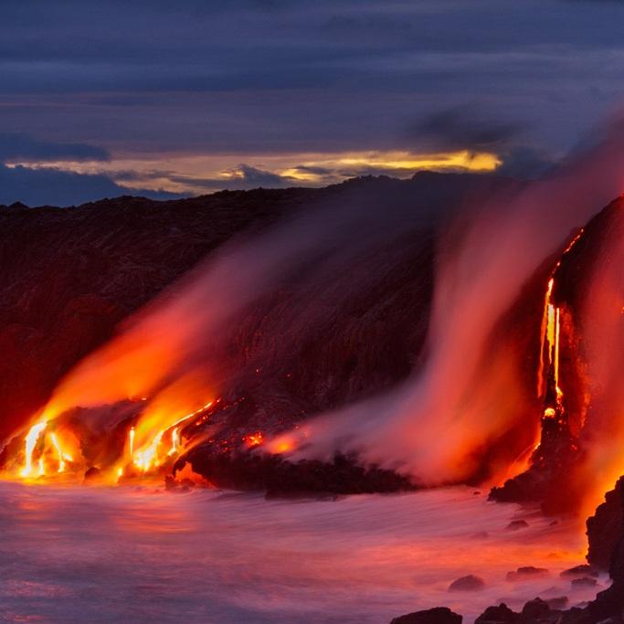 Lava + Big Island's color: red