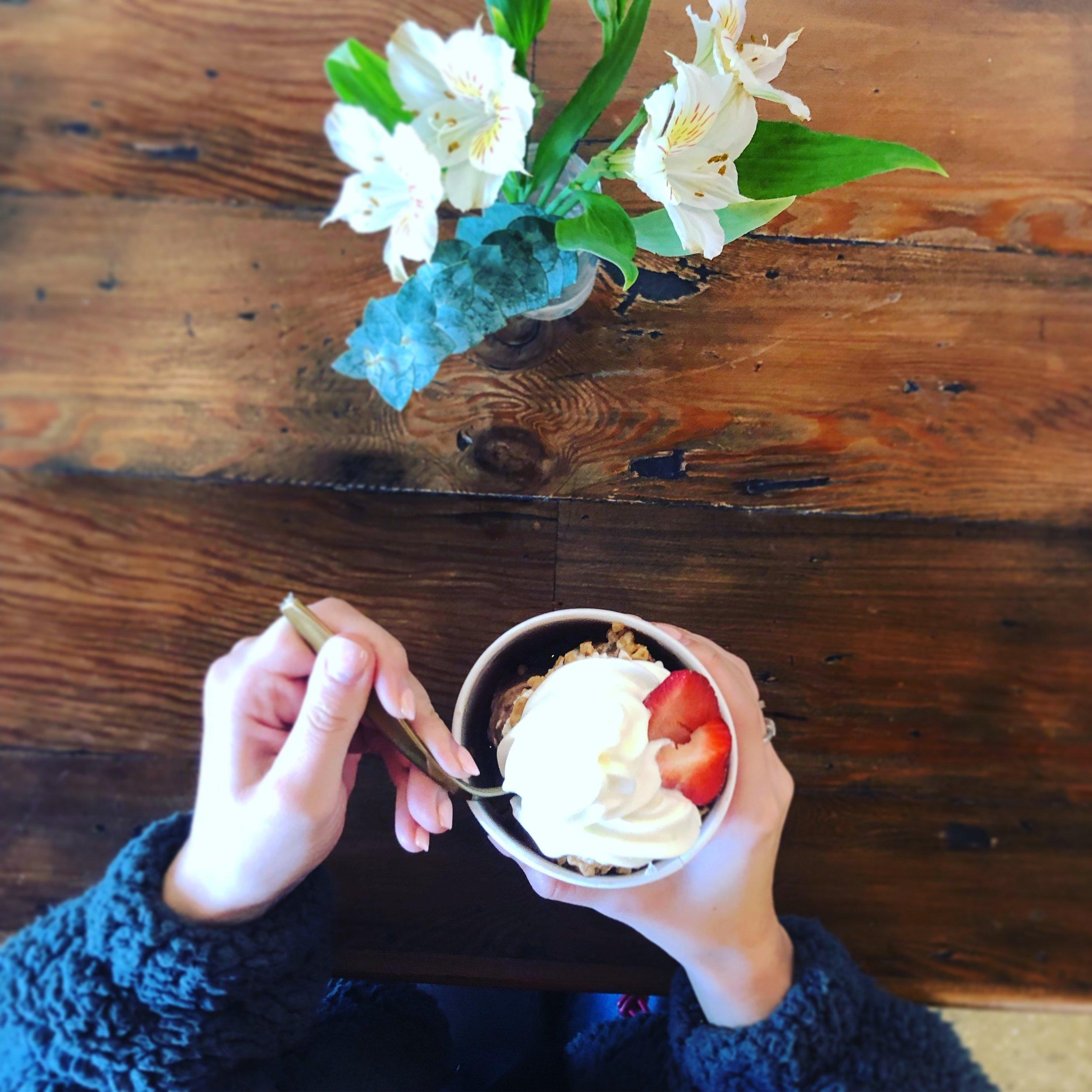 Hours: - Lunch:Tues – Sat, 11 am – 3 pmIce Cream:Tues – Thur, 11 am –9 pmFri – Sun, 11 am – 10 pmSun, 12 pm- 6pmClosed Mondays