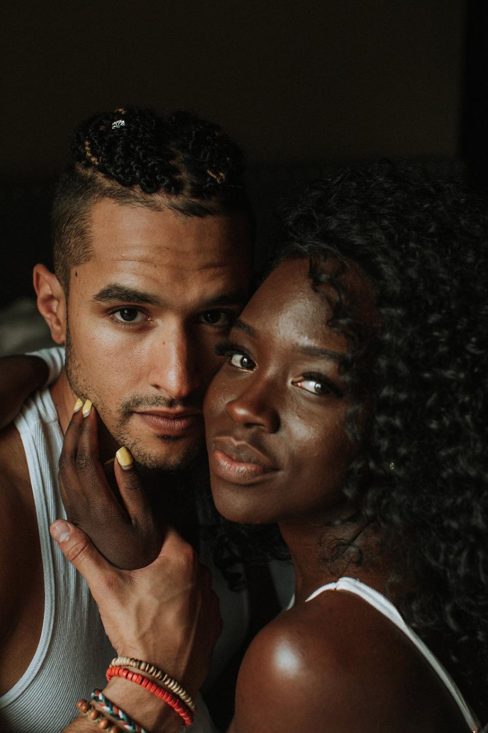 Couple Boudoir black love