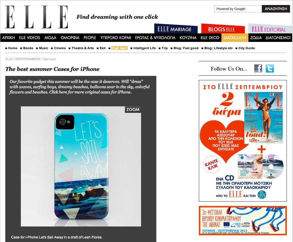 Leah Flores Phone Case Design in ELLE
