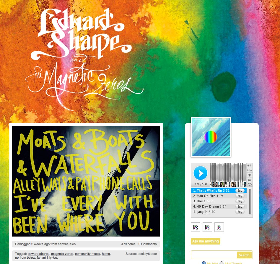 Leah Flores Artwork for Edward Sharpe and the Magnetic Zeros