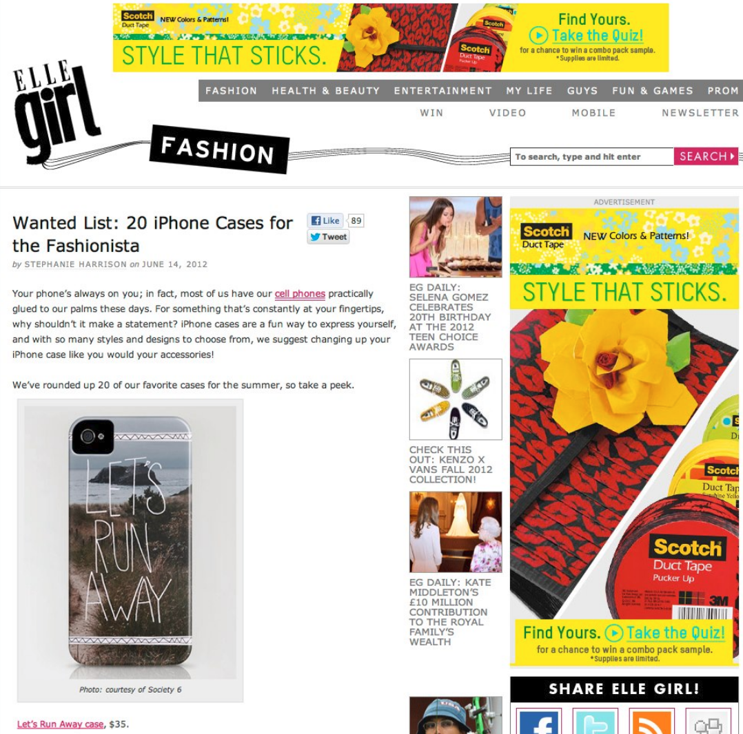 Leah Flores Phone Case Design Featured by ELLE Girl