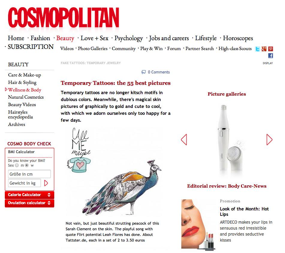 Leah Flores Tattoo Design Featured by Cosmopolitan