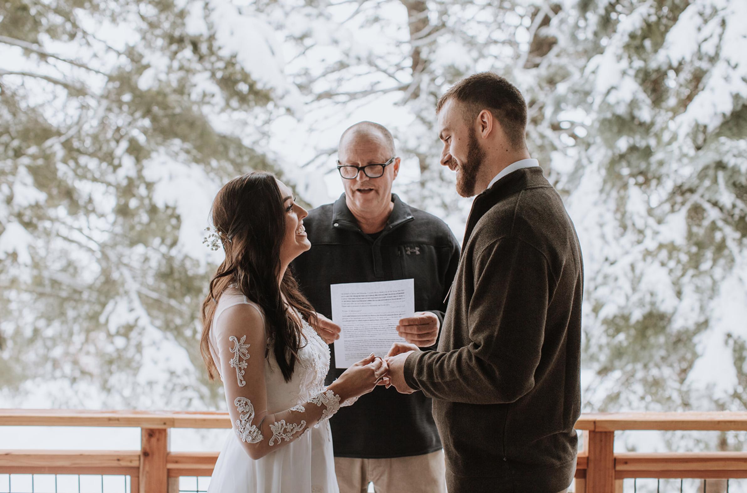Cascade Idaho Winter Elopement Wedding Photography Leah Flores