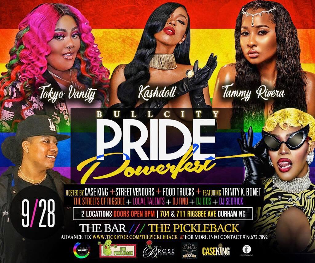 2019 Bull CItyPride Powerfest - For Tickets https://www.ticketor.com/thepickleback/tickets/bull-city-pride-powerfest-176720#buy