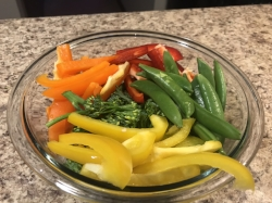 2. Chop up your veggies and set aside