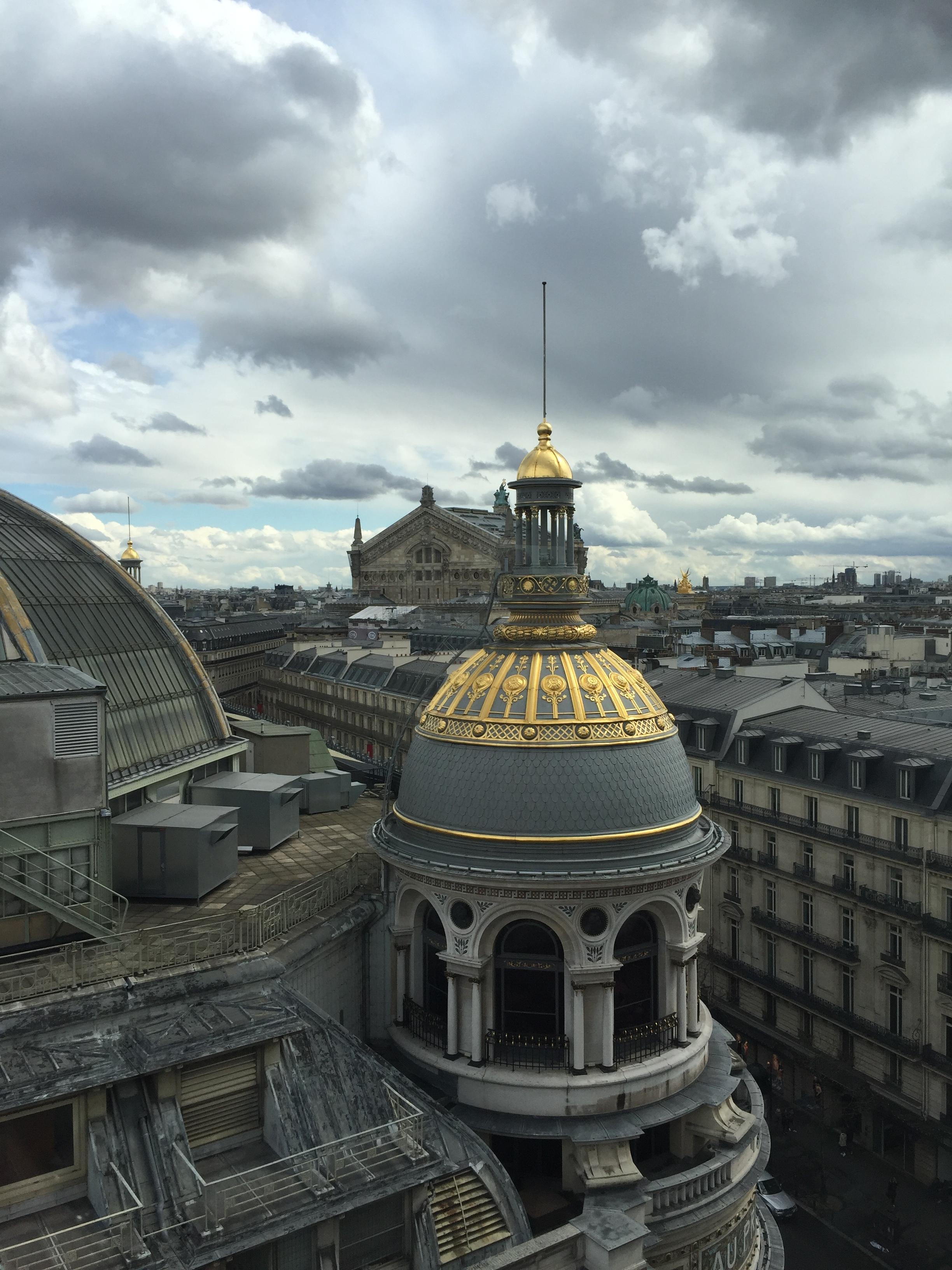 Le Palais Garnier - Vu de la terrasse Panoramique du Printemps Paris Haussmann