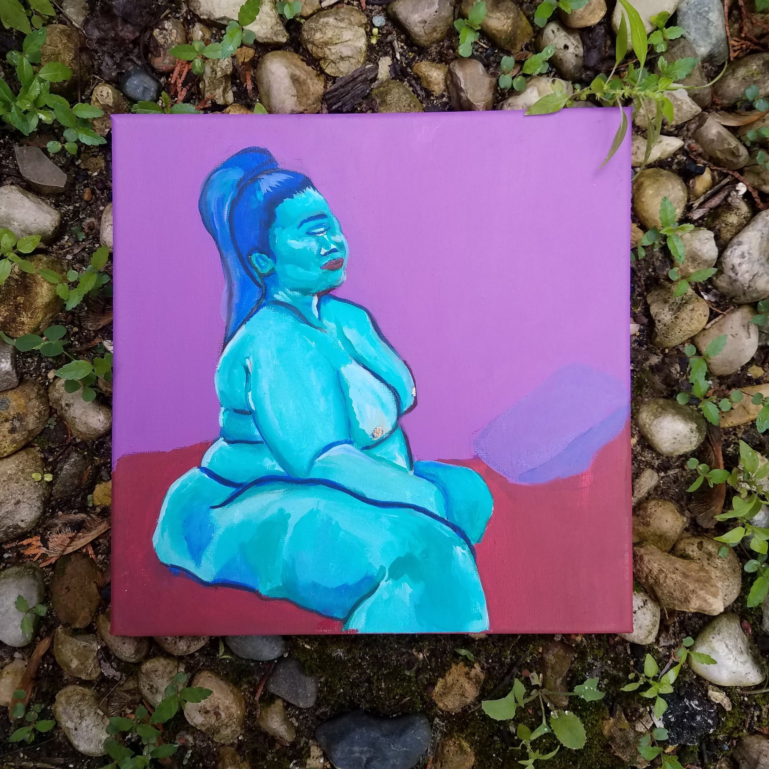 She Bad  SOLD . Acrylic on Canvas  .