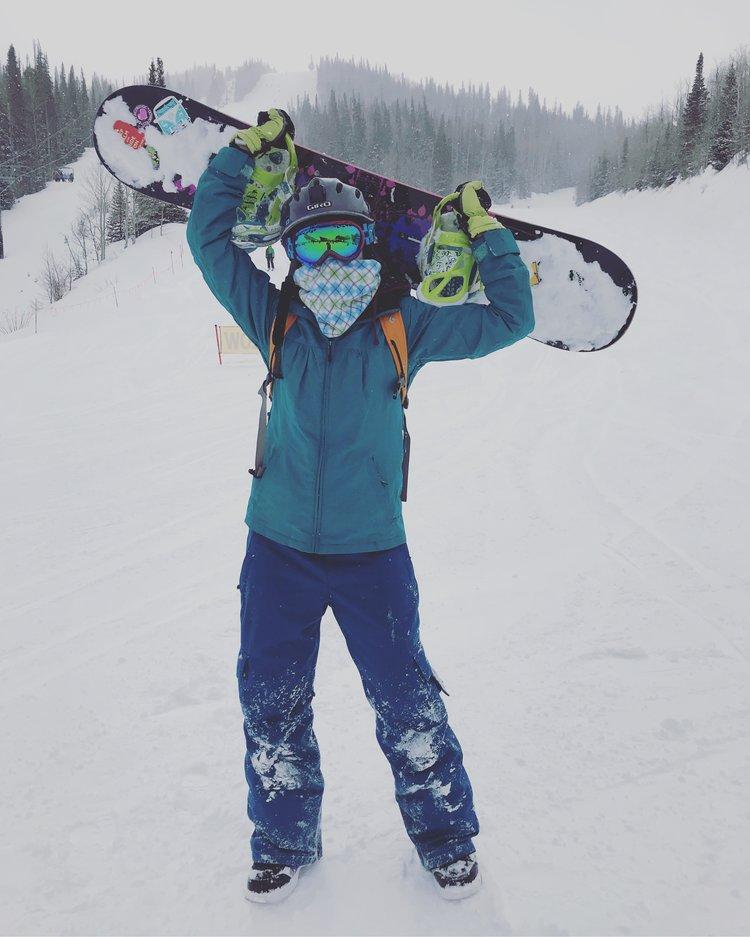 Snowboarding in Park City, Utah