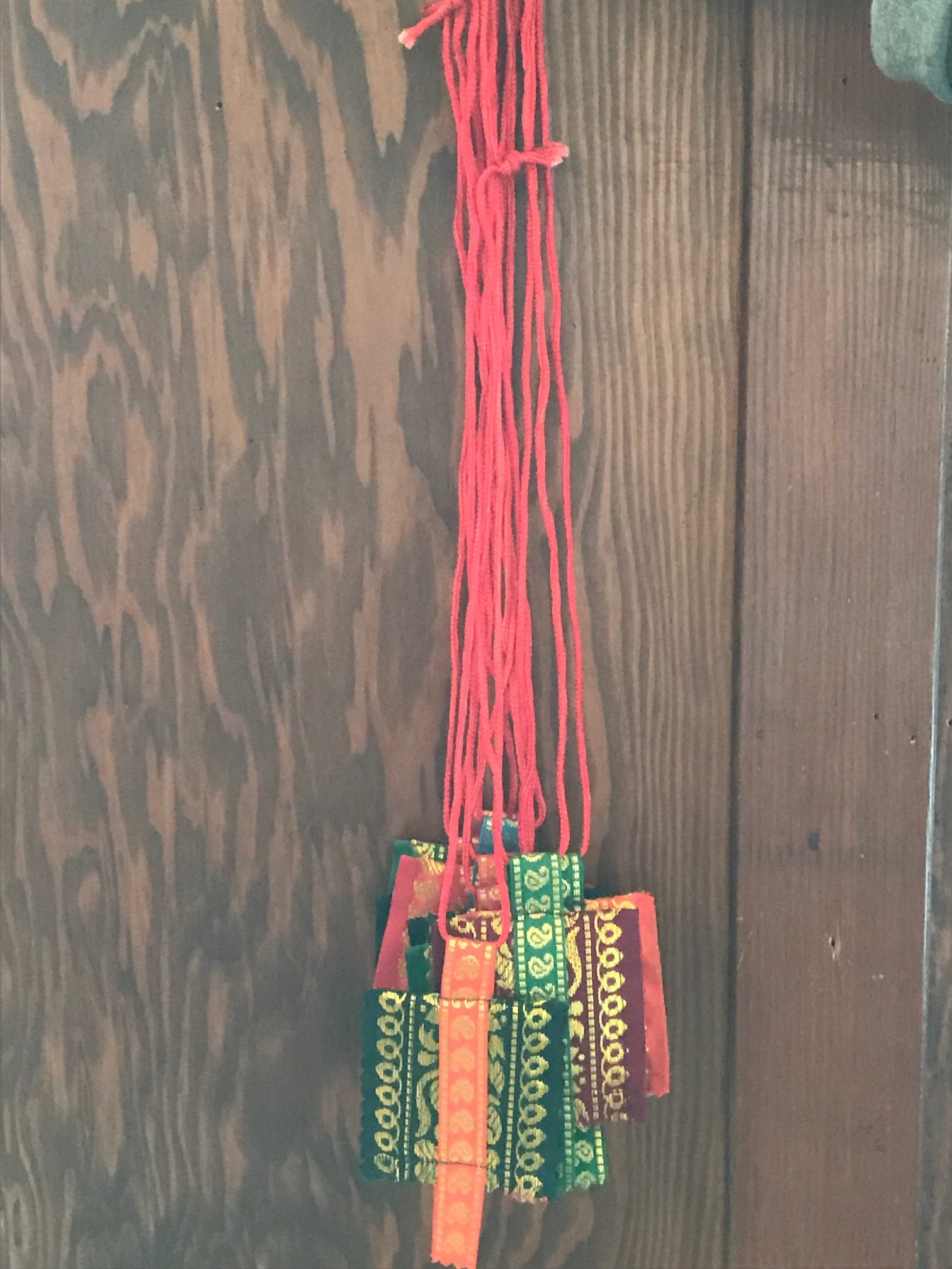 Fabric pouch necklace