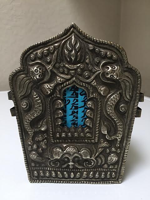 Antique Tibetan travel shrine