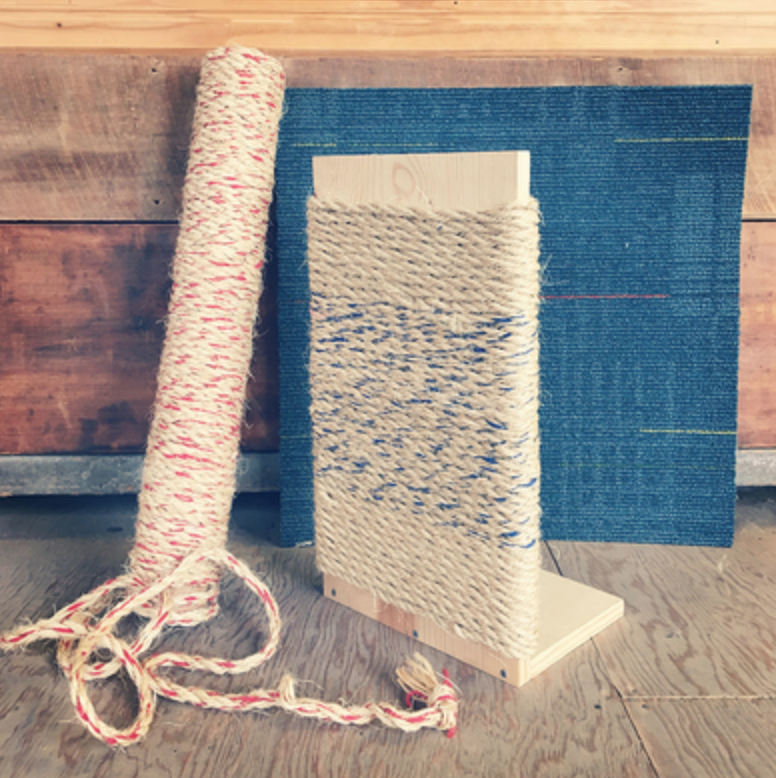 For the animal lover:  Cat scratch post making