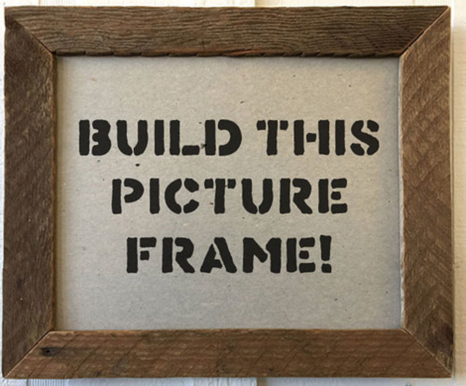 Something for the memories you will be making:  DIY picture frame