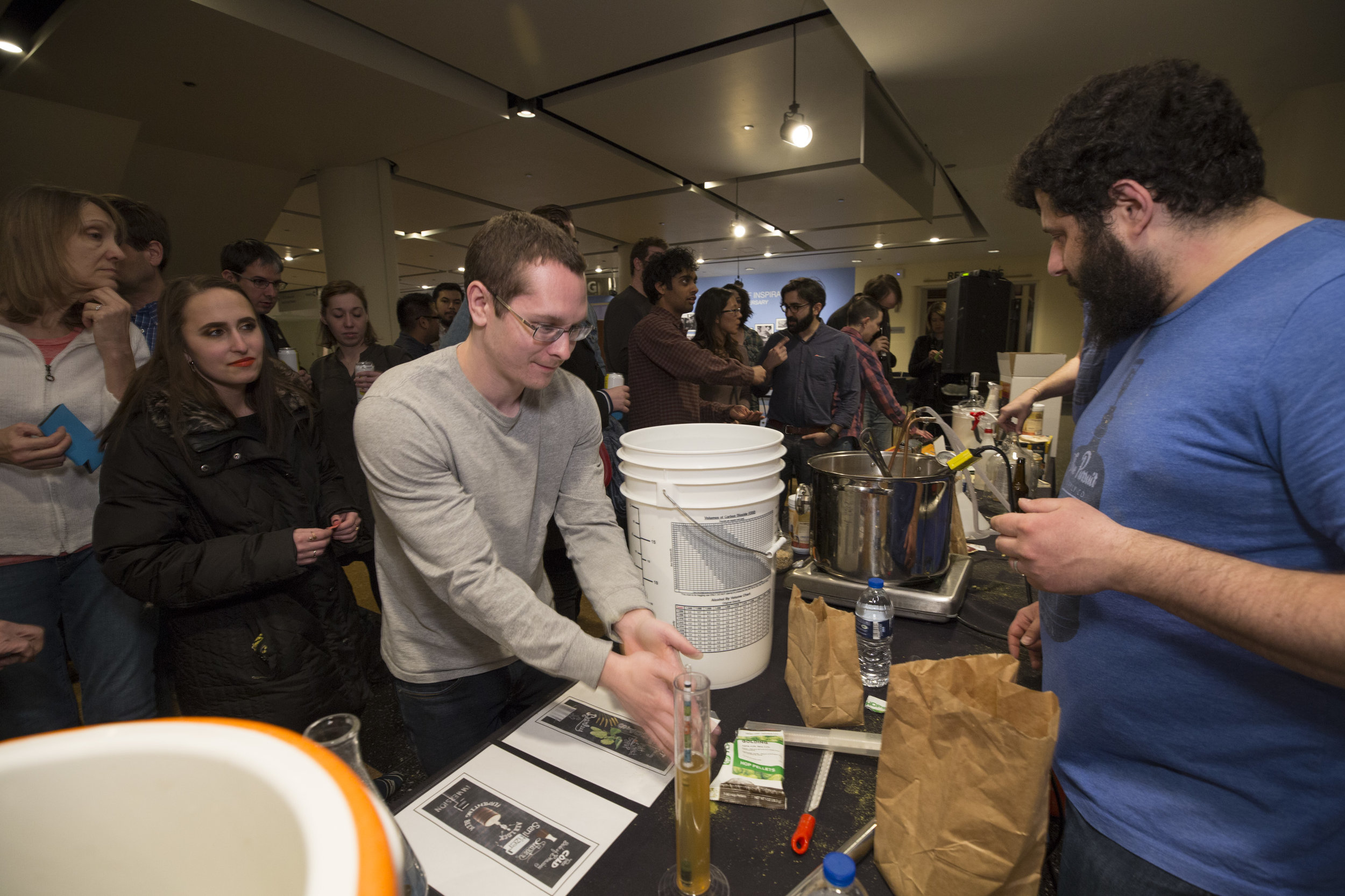 Pursuit Supply teaching beer brewing basics at the Adler Planetarium
