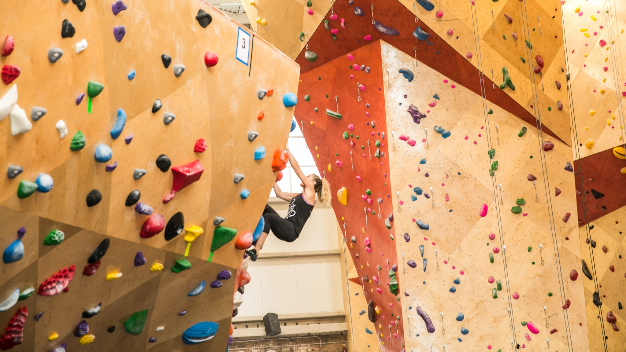 Brooklyn Boulders in the West Loop hosts bouldering and rope climbing experiences.