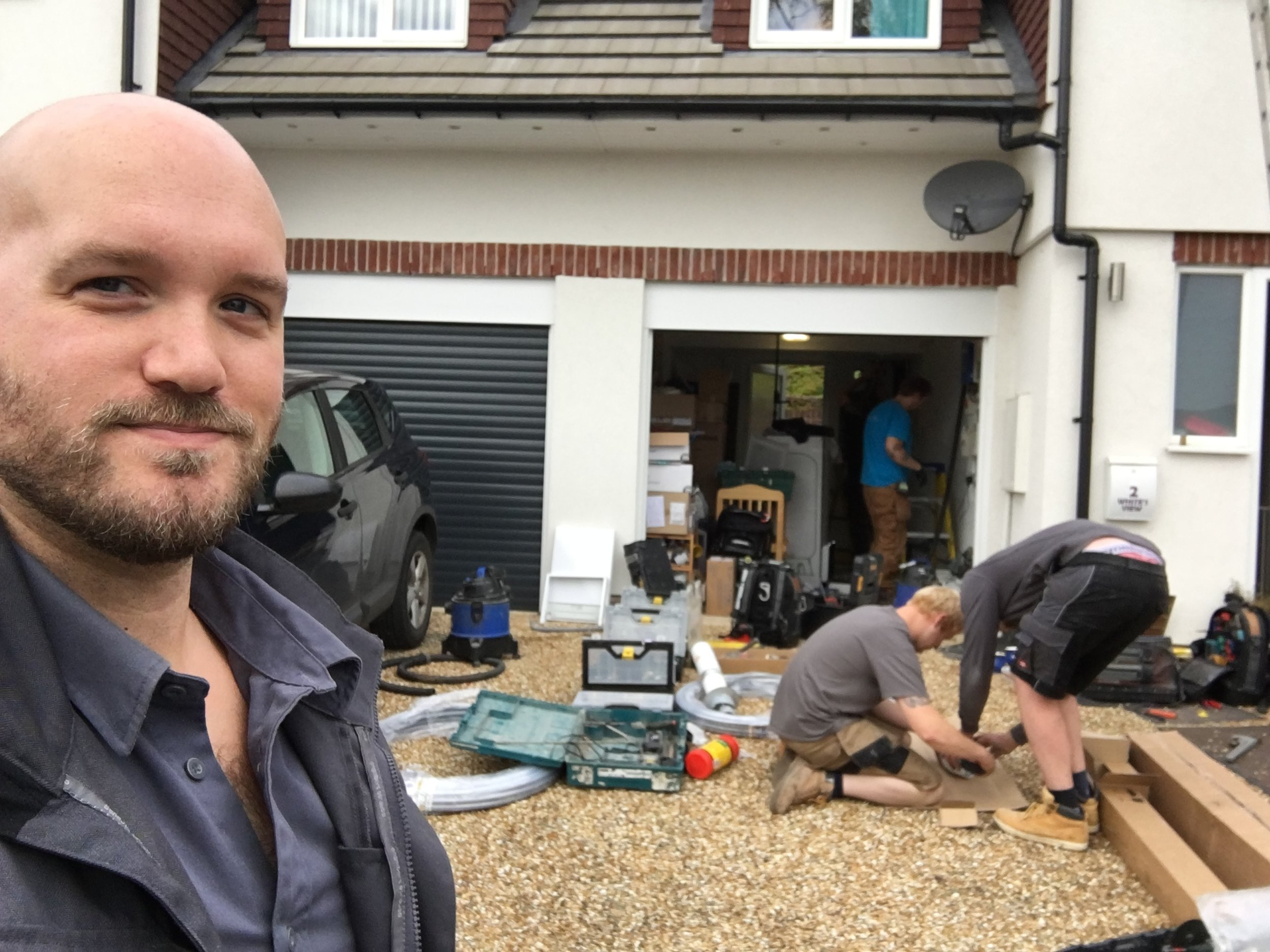 Patrick and other Ecotechnicians at a recent charity install.