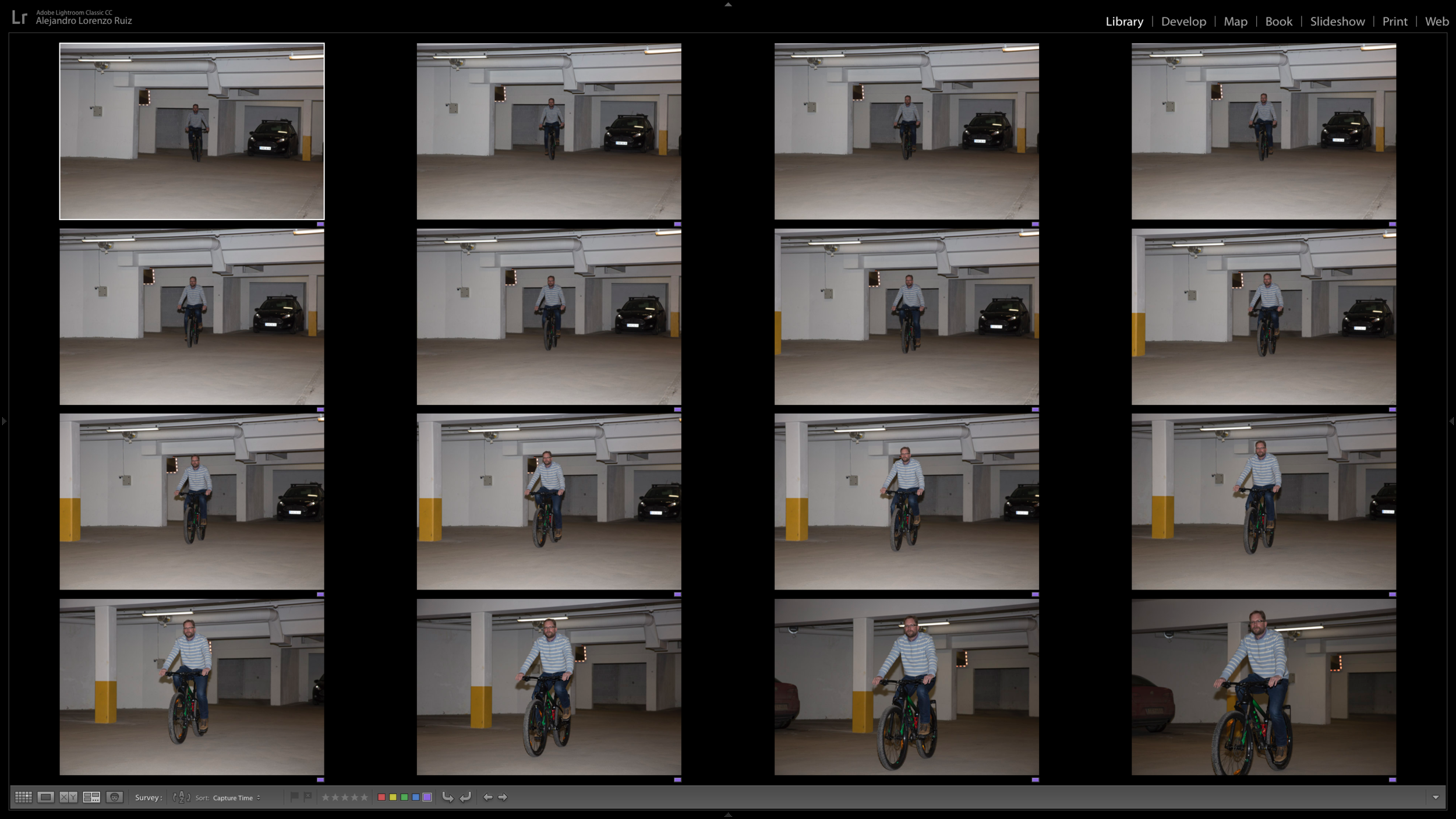 Continuous Shoot of a subject in movement using the Profoto A1 AirTTL-C.