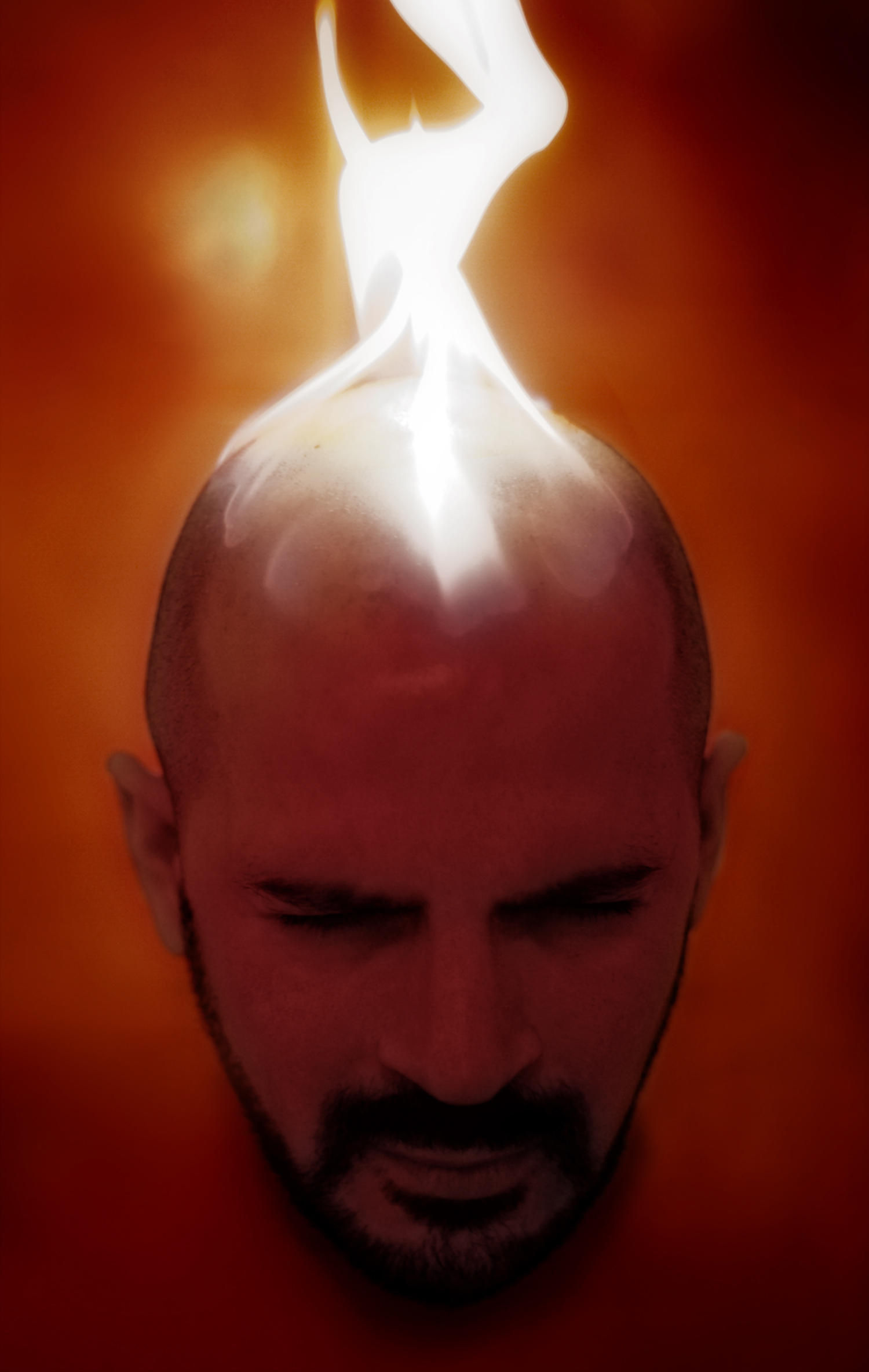 The Fire Picture, also known as The Red Portrait © Alejandro Lorenzo, 2008