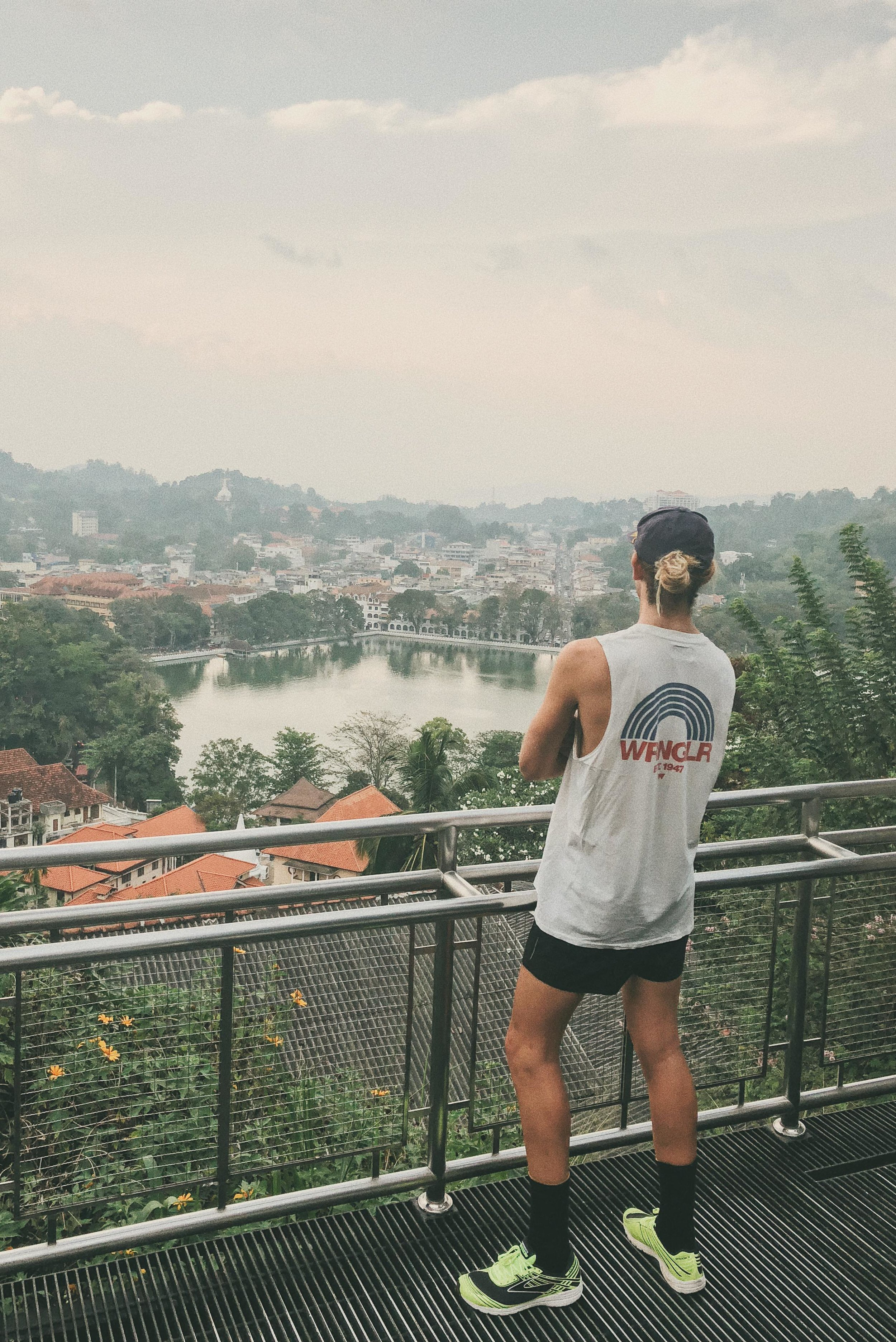 Made a point of running past the view point on top of town in Kandy.