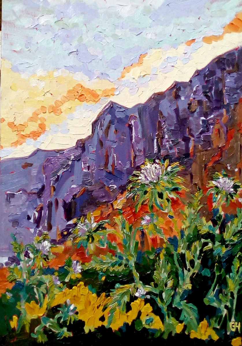SOLD Thistles on the rocks-R2.500
