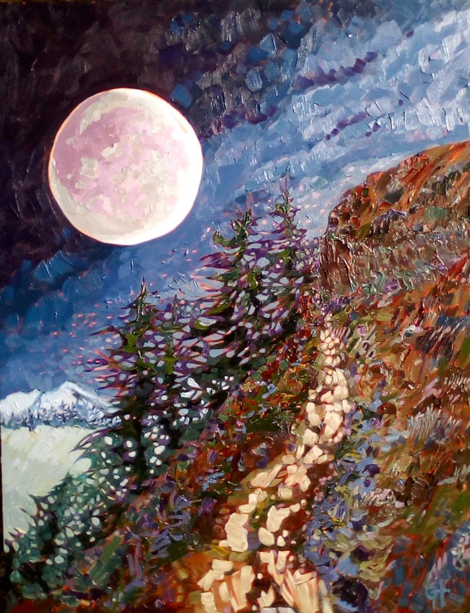 AVAILABLE -Moon walk ,R5500-, 60x80cm