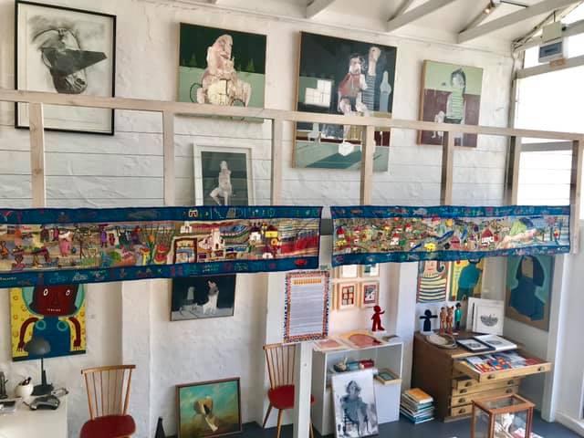 2018 - The Living Tapestry , with Keiskamma up at the Kunskantoor Gallery .   http://keiskamma.com/   https://www.kunskantoor.com/