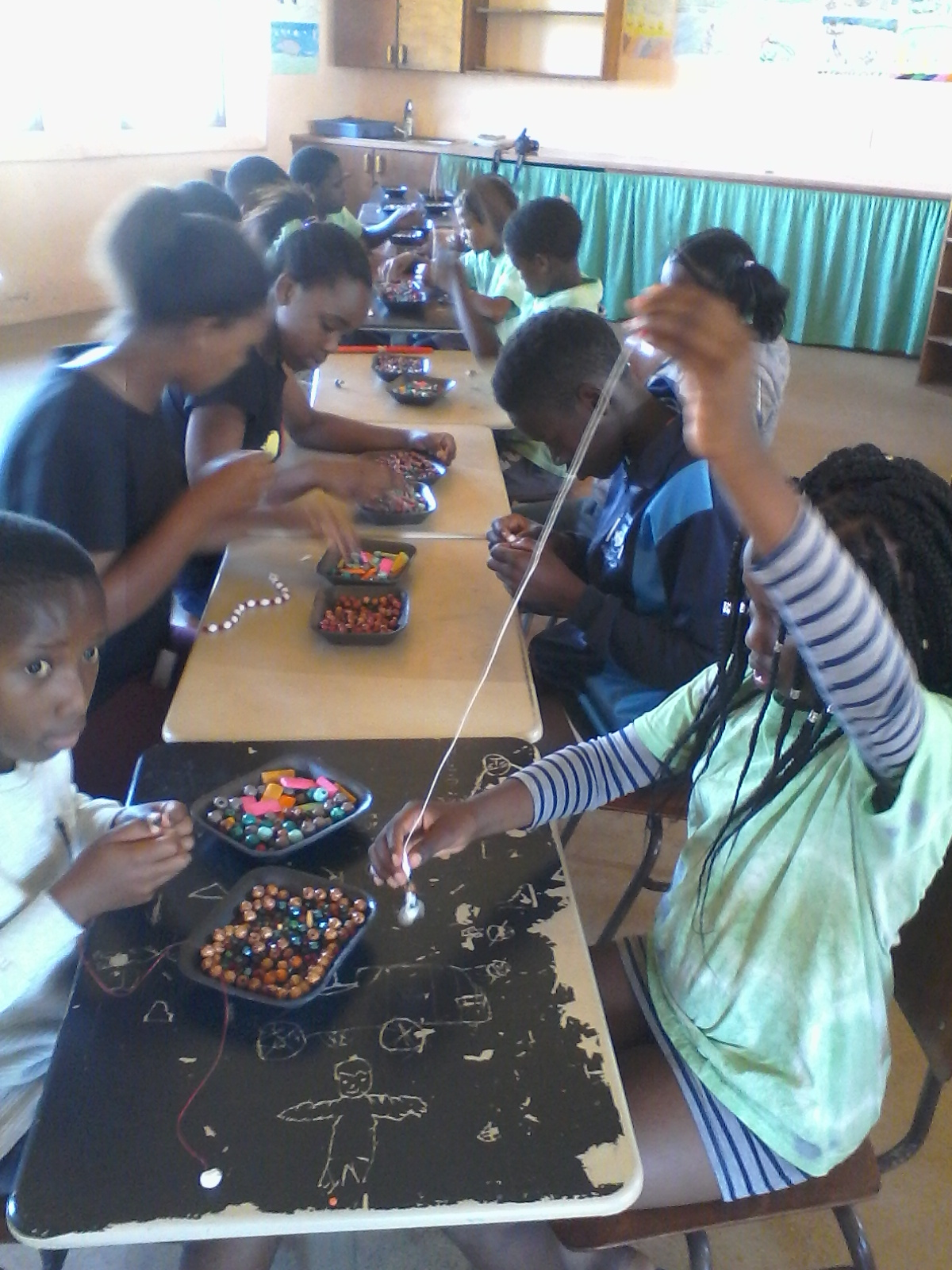 2018 - Working on a holiday project at Hermanus Waldorf School, 100 children a day doing different workshops.