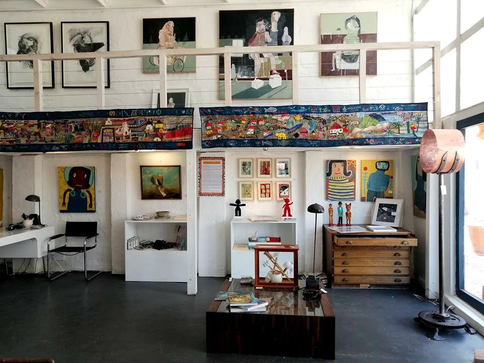 2018 - The living tapestry up at Kunskantoor Gallery in Hermanus.