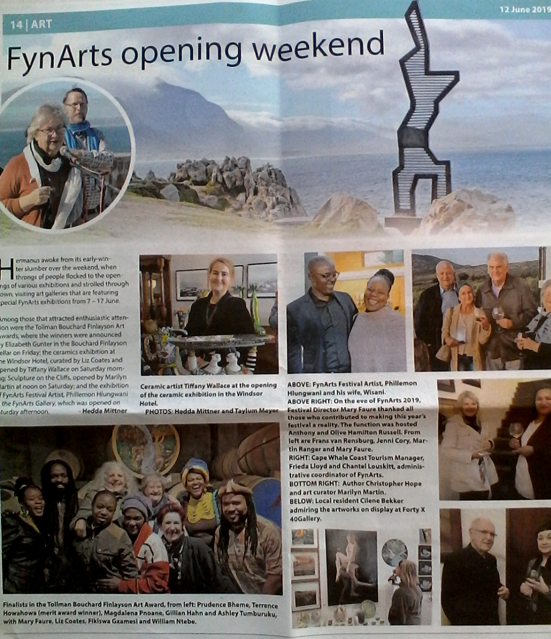 2019 - Fynarts group exhibition at Bouchard Finlayson.
