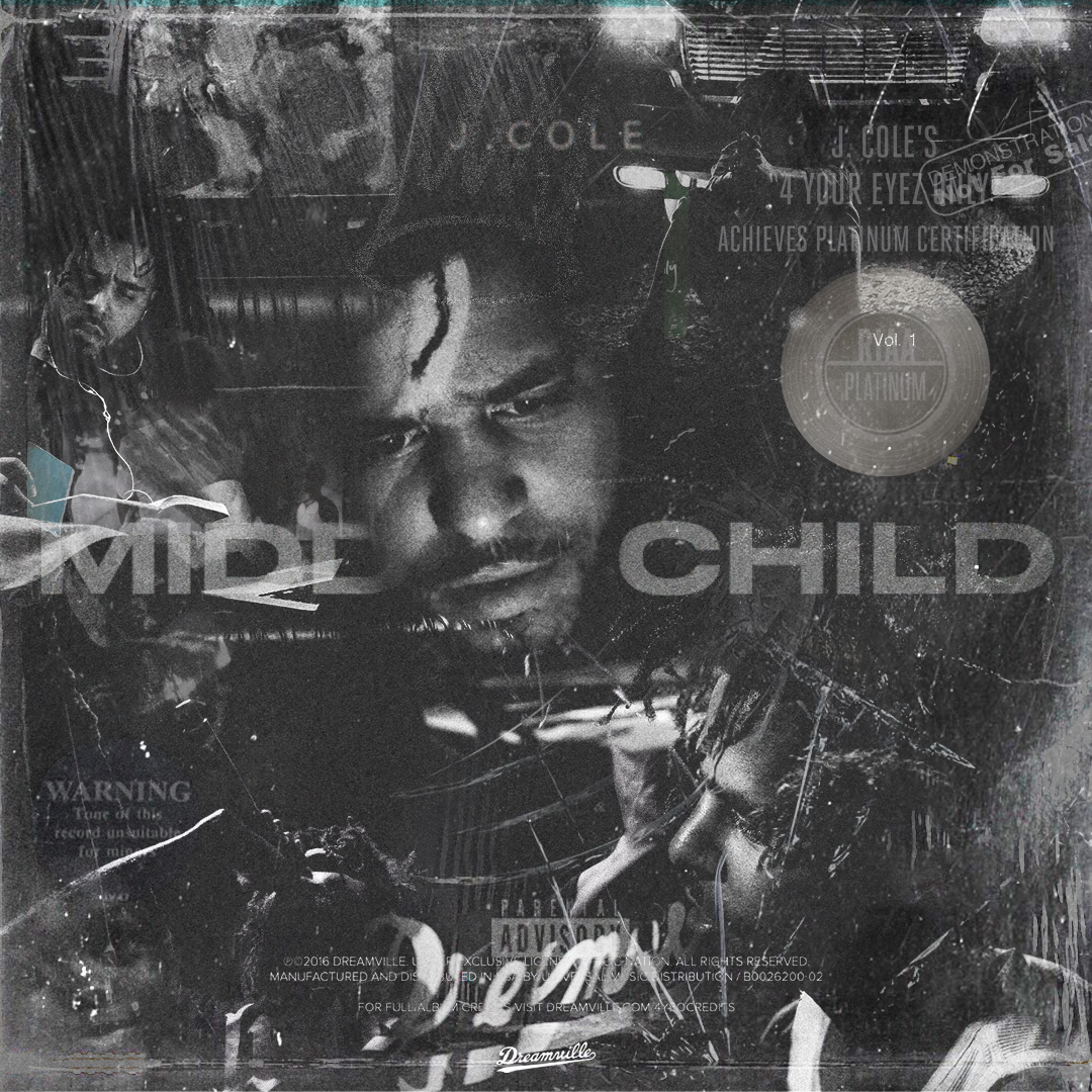 """Alternative cover for J COLE's single """"MIDDLE CHILD"""""""