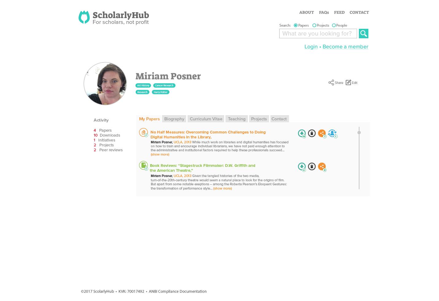 A Scholar's Profile