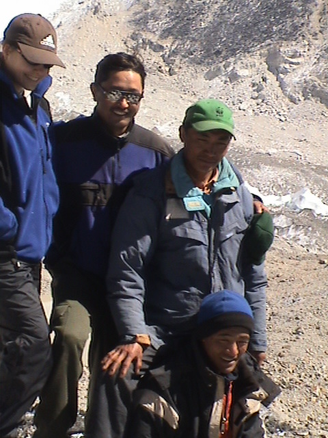 With SHERPA - the true hero's of the Himalaya's. Neima, Dolche and Mingma.